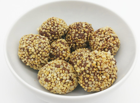 Puffed quinoa chocolate balls.