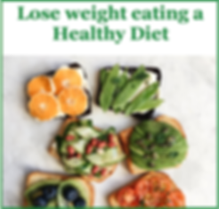 lose weight eating a healthy diet logo.p
