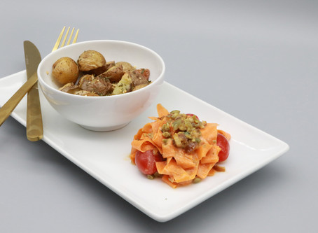 Carrot Salad with Roasted Potatoes