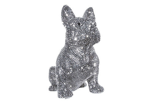 Rhinestone French Bulldog Bank