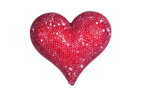 Plus Red Rhinestone Love Heart