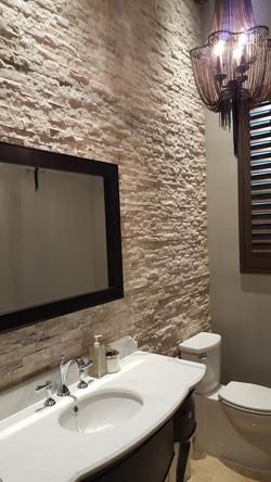 Powder Room Accent Wall, Weston, FL