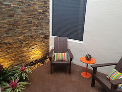 Brick Paver and Natural Stone Accent Wall, Delray Beach, FL