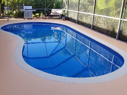 Pool Deck Concrete Staining_Weston, FL