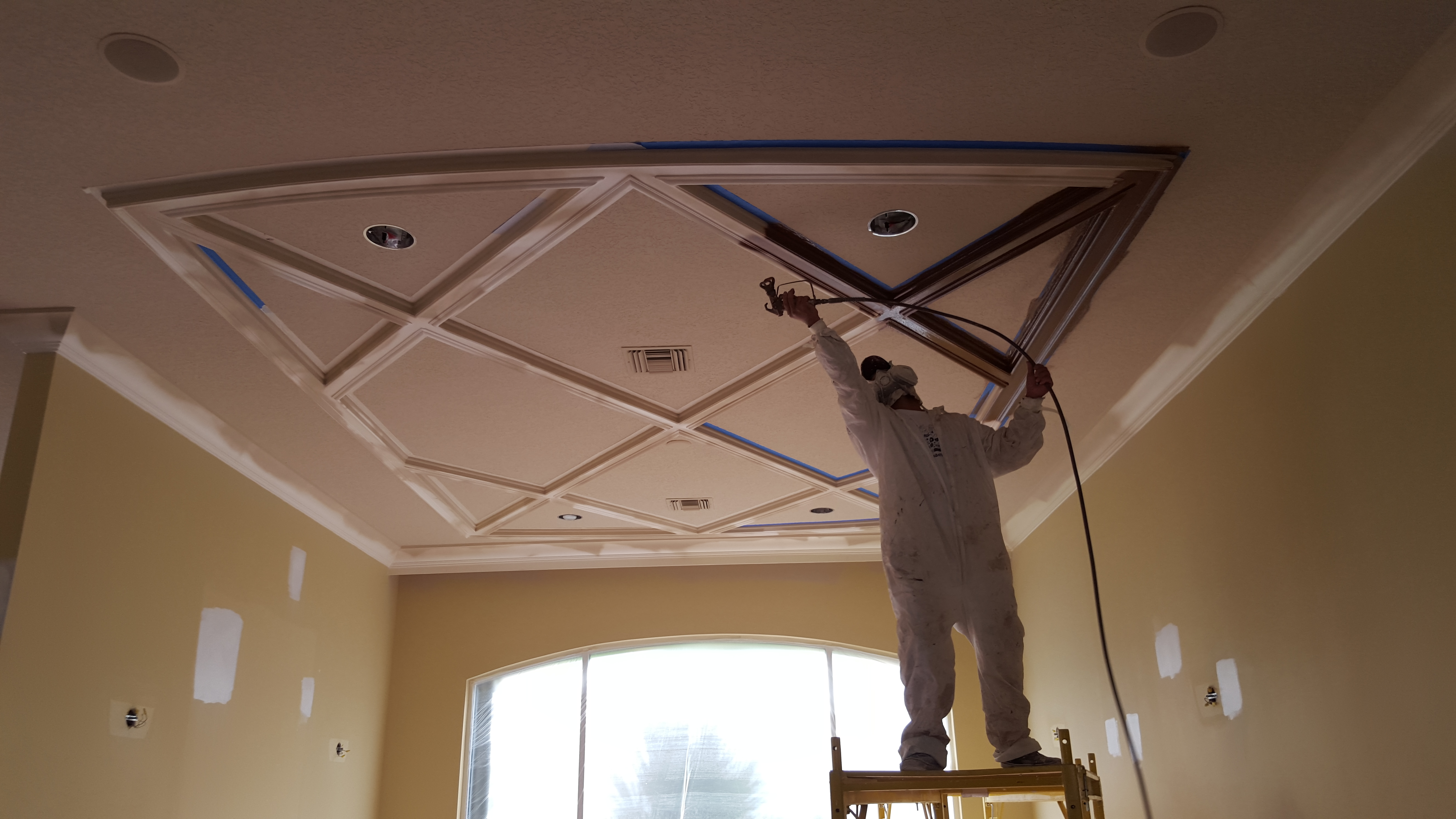 Ceiling Molding Installation and Painting, Delray Beach, FL