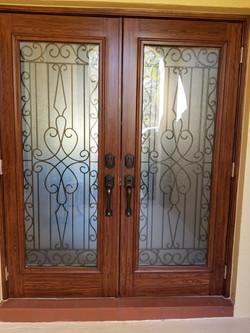 Front Door Woodgraining