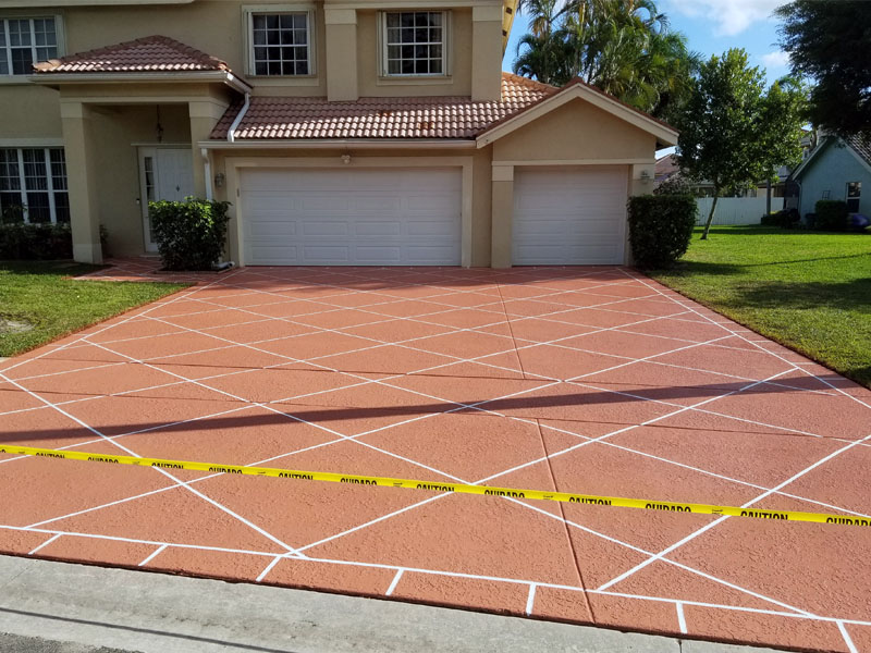 Driveway Concrete Staining_Fort Lauderdale, FL