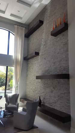 Natural Stone Veneer Feature Wall
