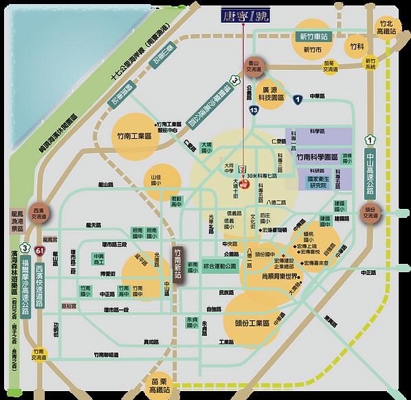 唐寧一號交通圖.png