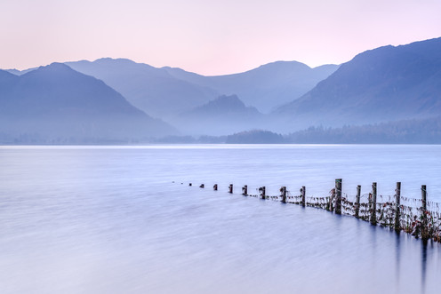 Dawn, Pink, Blue, Derwent Water, Keswick