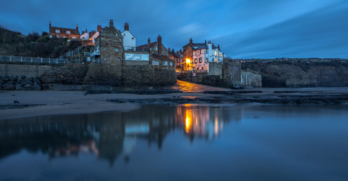 Robin Hoods Bay, Dawn, Blue Light, North