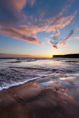 Sunrise, Hunt Cliff, Saltburn, Teesside.