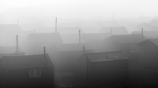 18630e-t Fog, Fishermen's, Huts, South,