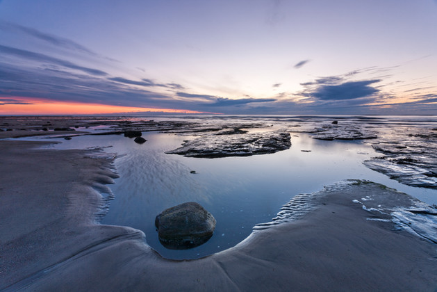 Dawn at Low Tide, Sandend, North Yorkshi
