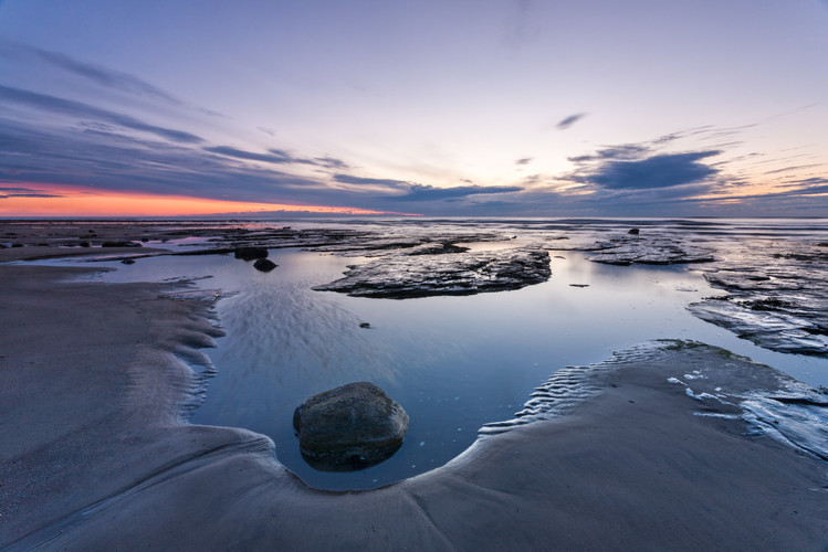Dawn at Low Tide, Sandend, North Yorkshi
