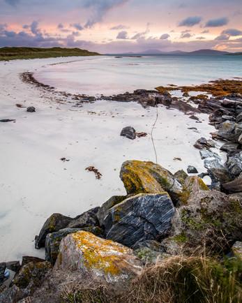 Dusk, North Shore, Barra, Western Isles,