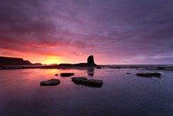 Sunset, Black Nab, Sea Stack, Saltwick B