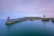 Dawn, Whitby Harbour, North Yorkshire.jp