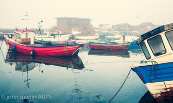 Fog, Paddy's Hole, South Gare