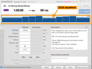 How to change your workout settings in TrainingPeaks