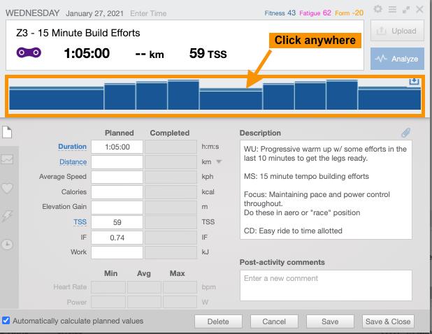 Triathlon Training plan in TrainingPeaks