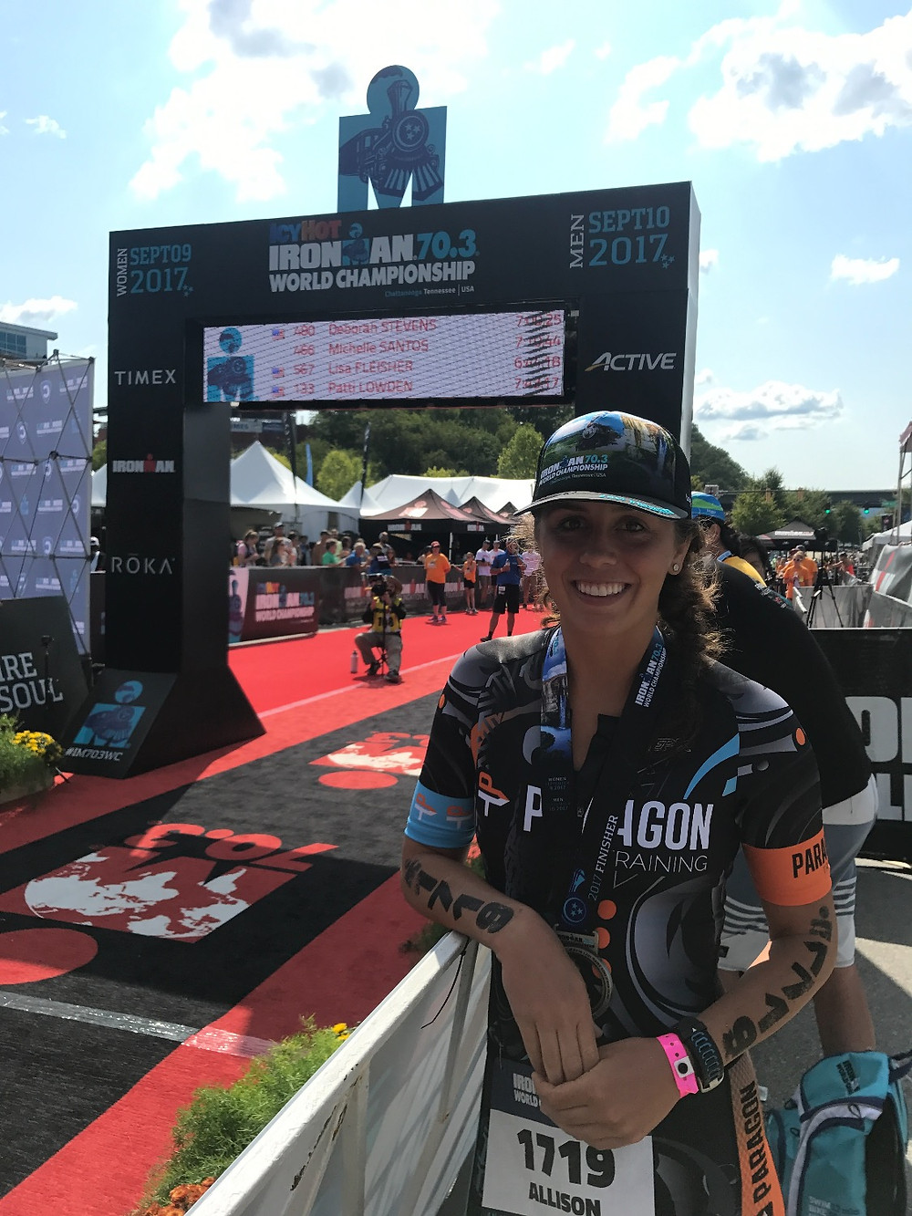 Alli Koch at 70.3 Worlds in 2017
