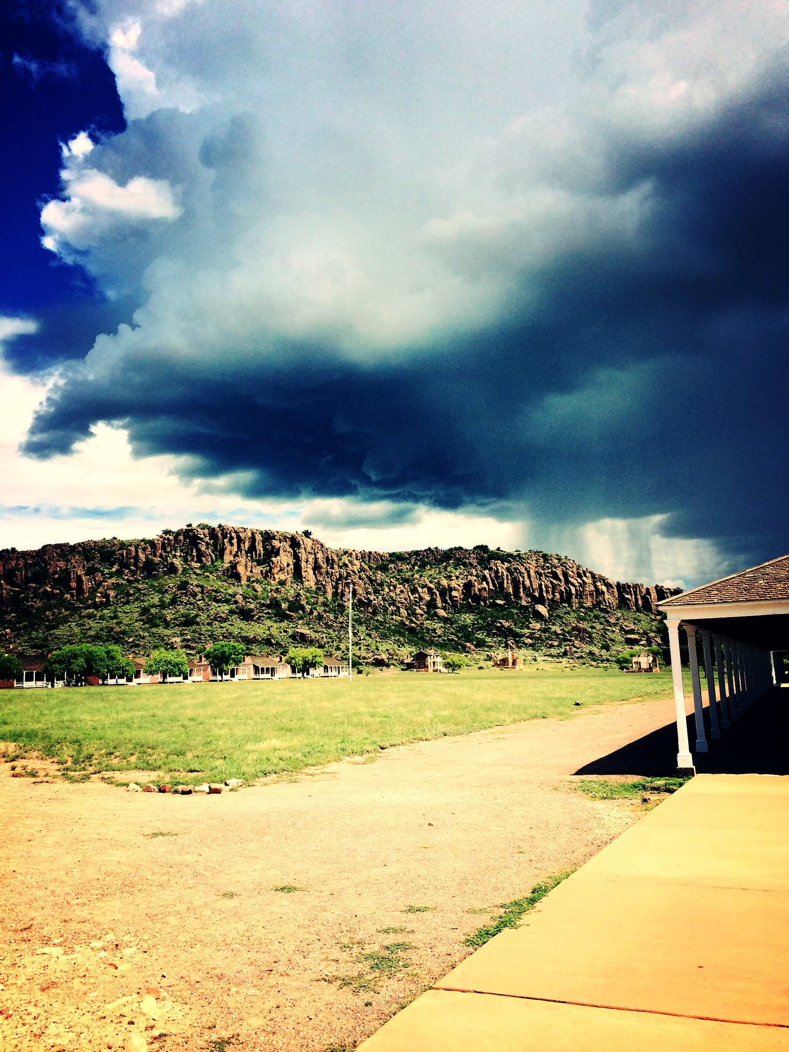Storm rolling in at Fort Davis