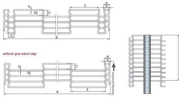 Опросный лист конвейерной сетки