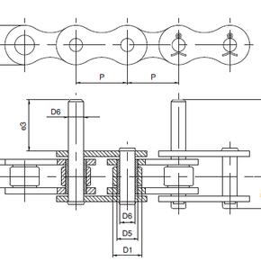 Нержавеющая цепь с удлиненным штифтом