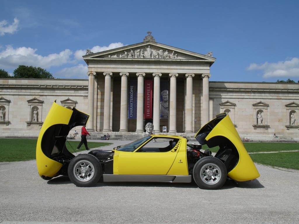 A Yellow 1967 Lamborghini Miura For Sale