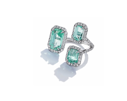Floating Emeralds Emerald and Diamond Co