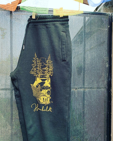 Black and gold sweats