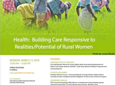 Building Care Responsive to Realities & Potential of Rural Women