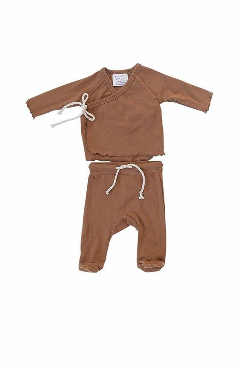 Mebie Baby Cotton Layette Set - Honey