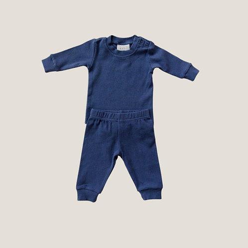 Mebie Baby Ribbed Set - Navy