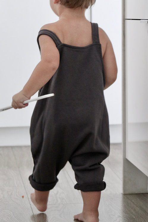 The Brooks Overalls - Charcoal