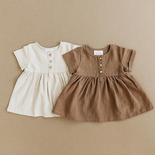 Mebie Baby Cotton Linen Dress