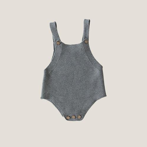 Mebie Baby Grey Knit Romper