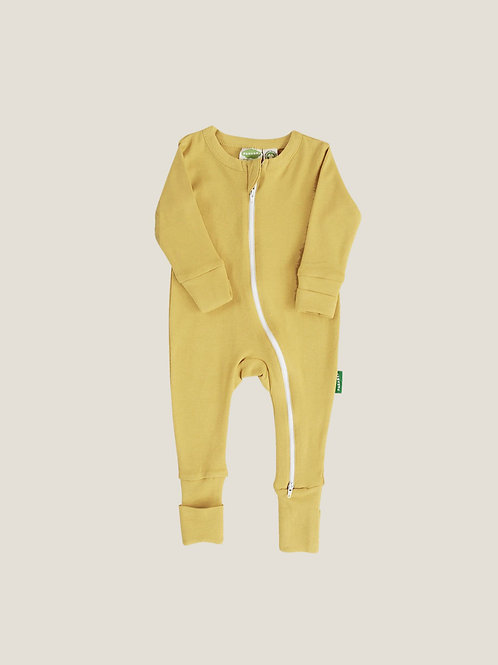 Parade Organics '2-Way' Zip Romper - Mustard