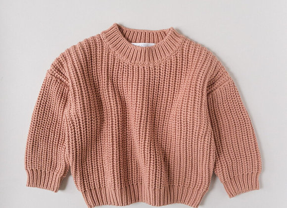 Kids Of April - Terracotta Chunky Sweater