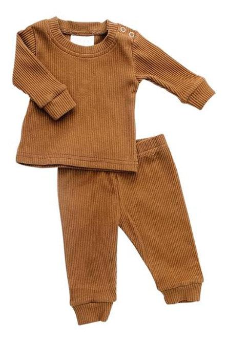 Mebie Baby Ribbed Set - Honey