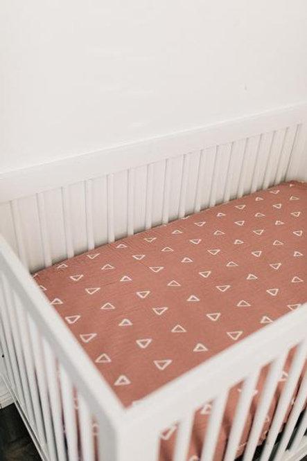 Mebie Baby Muslin Crib Sheet  - Blush