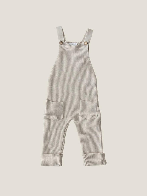 Mebie Baby Cream Knit Overalls