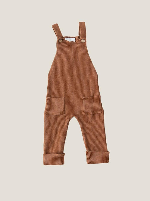 Mebie Baby Rust Knit Overalls
