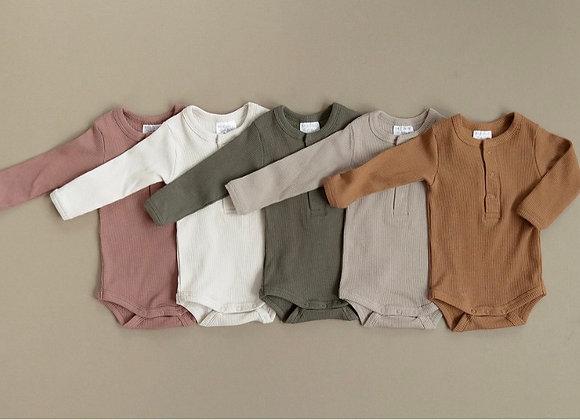 Mebie Baby Organic Cotton Ribbed Bodysuit