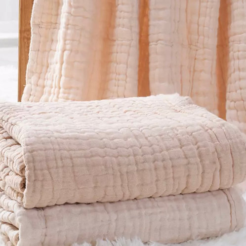 Muslin Swaddle - 6 layer Natural