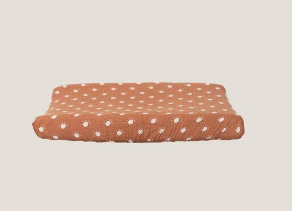 Mebie Baby Muslin Change Pad Cover - Sunshine