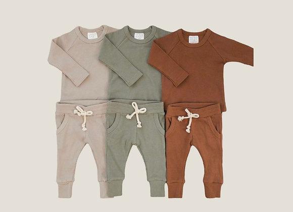 Mebie Baby Organic Ribbed Pocket Set