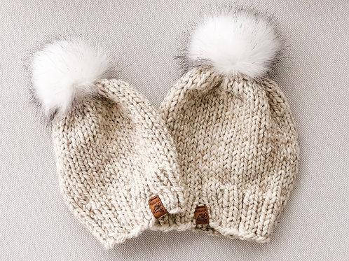 Rose&Purl Beanie - Wheat/Polar