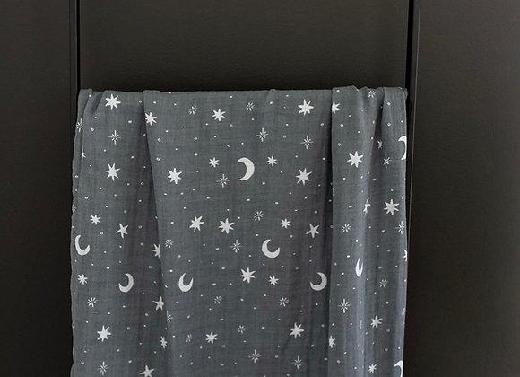 Mebie Baby Muslin Swaddle Blanket - Night Sky